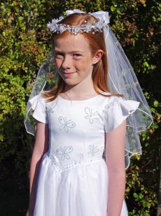 Madelaine Communion Headdress